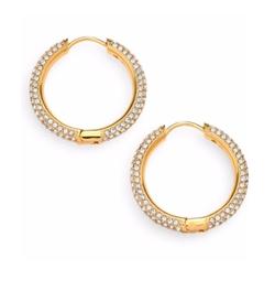 Adriana Orsini  - Pavé Hoop Earrings