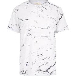 River Island - White Marble Print T-Shirt