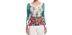 Etro - Arcade-Print Long-Sleeve Sweater