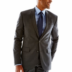 Claiborne - Pinstriped Slim-Fit Wool Suit Jacket