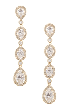 Nadri  - Cz Drop Earrings