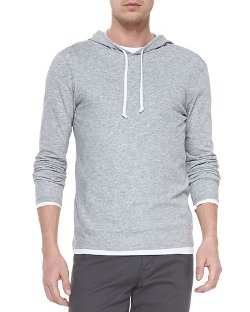 Vince - Double-Layer Hoodie Pullover