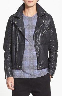 Topman - Leather Biker Jacket