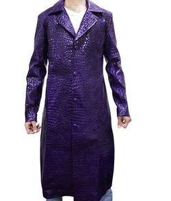 Top Leather Factory - Joker Purple Long Coat