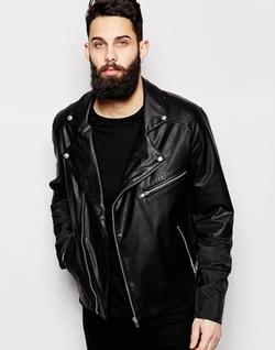 Asos - Leather Biker Jacket