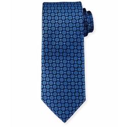 Neiman Marcus  - Diamond & Floral Silk Tie