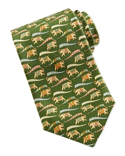 Salvatore Ferragamo  - Large Elephant-Print Tie