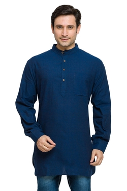 Shatranj - Banded Collar Solid Shirt