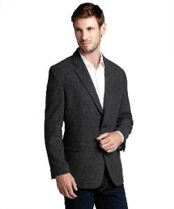 Tommy Hilfiger - Dark Grey Wool Two-Button Blazer