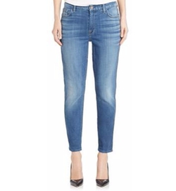 Jen7  - Twill Straight-Fit Ankle Jeans