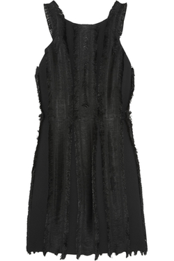 Sandro - Rogee Fringed Crepe Dress