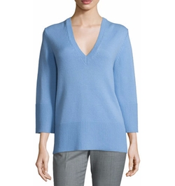 Michael Kors - Collection Cashmere V-Neck Tunic Sweater