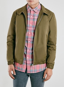 Topman - Khaki Harrington Jacket