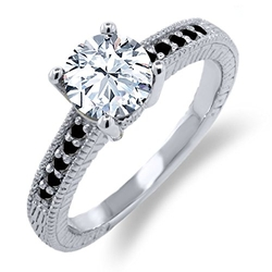 Gem Stone King - Sterling Silver Engagement Ring