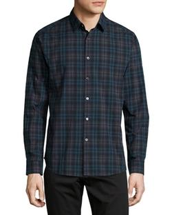 Theory - Zack Plaid Long-Sleeve Shirt
