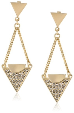 Paige Novick - Triangle Chain Drop Earrings