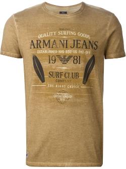 Armani Jeans - Logo Print T-Shirt