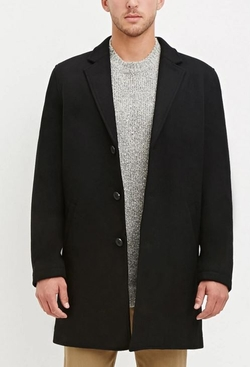 21 Men - Wool-Blend Overcoat