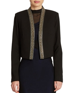 Calvin Klein  - Embellished Cropped Jacket
