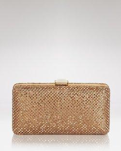 Sondra Roberts   - Rhinestone Box Clutch Bag