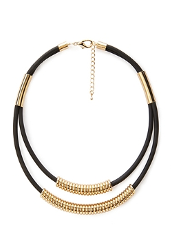 Forever 21 - Beaded Double Cord Necklace