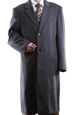 Prontomoda - Single Breasted Gray Luxury Topcoat