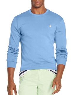 Polo Ralph Lauren - Slim-Fit Pima Crewneck Sweater