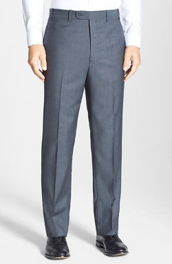 JB Britches  - Torino Flat Front Wool Trousers