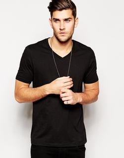 Asos - V Neck And Relaxed Fit T-Shirt