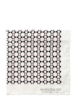 Mark Giusti - Printed Silk Twill Pocket Square