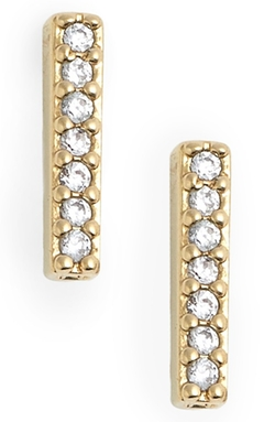 Nadri - Pavé Bar Stud Earrings