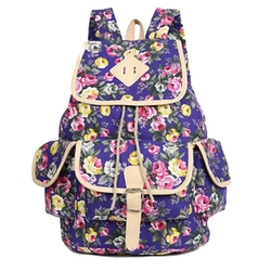 Artone - Floral Print Flap-Over Backpack