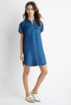 Forever 21 - Denim Utility Shirt Dress