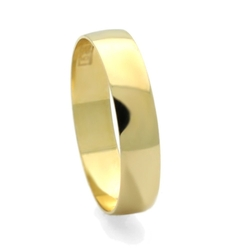 Double Accent - Classic Plain Light Wedding Band Ring