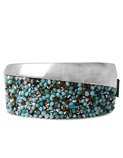 Kenneth Cole New York - Pebble Beach Silvertone Beaded Bangle