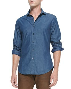 Ralph Lauren Black Label   - Woven Chambray Shirt
