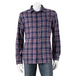 Sonoma Life + Style - Plaid Button-Down Flannel Shirt
