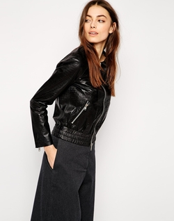 Muubaa  - Orva Leather Bomber Jacket