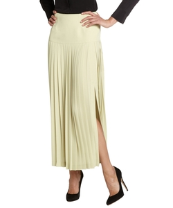 Fendi - Lime Pleated Long Skirt