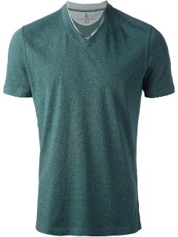 Brunello Cucinelli  - V-neck T-shirt