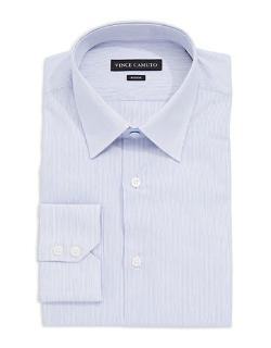 Vince Camuto - Fitted Thin Striped Dress Shirt