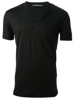Dolce & Gabbana   - Classic V-Neck T-Shirt