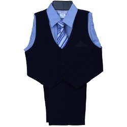 Spool 23 - Toddler Vest Set with Light Blue Dress Shirt