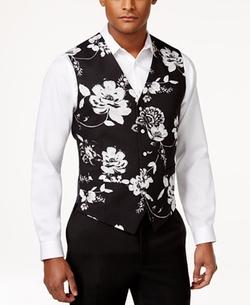 Tallia - Slim-Fit Floral-Print Vest