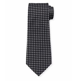 Armani Collezioni - Geometric Box-Printed Silk Tie