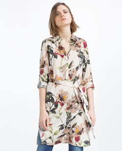 Zara - Printed Tunic With Slits