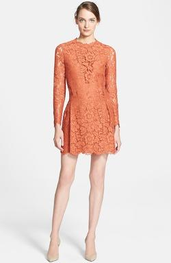 Valentino  - Drop Waist Lace Dress