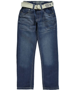 "U.S. Polo Assn.  - Big Boys' ""Origins"" Belted Jeans"