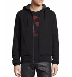 John Varvatos Star USA - Fleece-Lined Front-Zip Hoodie