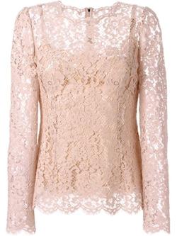 Dolce & Gabbana - Floral Lace Blouse